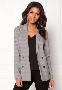 Pieces Carla LS Blazer Light Grey Melange Bubbleroom.fi