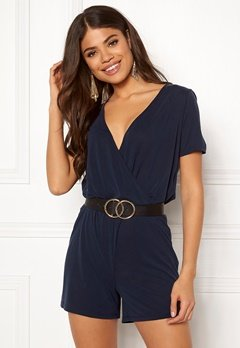Pieces Ceau Wrap Playsuit Night Sky Bubbleroom.fi