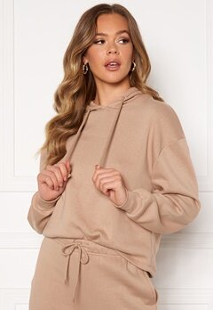 Pieces Chilli LS Hoodie Warm Taupe Bubbleroom.fi