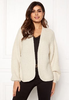 Pieces Clarissa LS Knit Cardigan Almond Milk Bubbleroom.fi