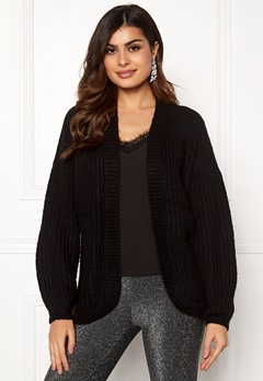Pieces Clarissa LS Knit Cardigan Black Bubbleroom.fi