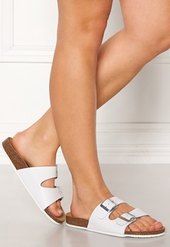 Pieces Coco Leather Sandals Bright White Bubbleroom.fi
