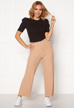 Pieces Curl HW Cropped Pants Warm Sand Bubbleroom.fi