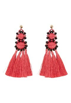 Pieces Dalgas Earrings Rouge Red Bubbleroom.fi