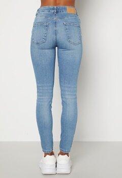 Pieces Delly MW Jeans Light Blue Denim Bubbleroom.fi