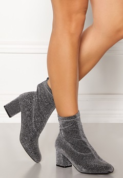 Pieces Donna Glitter Boot Silver Colour Bubbleroom.fi