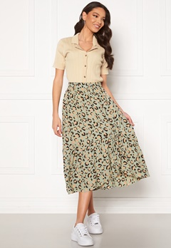 Pieces Dua HW Midi Skirt Desert Sage Bubbleroom.fi