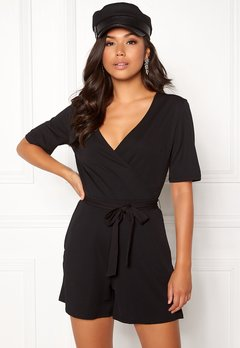 Pieces Duna SS Playsuit Black Bubbleroom.fi