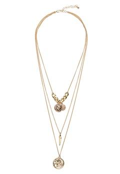 Pieces Elsa Combi Necklace Gold Bubbleroom.fi