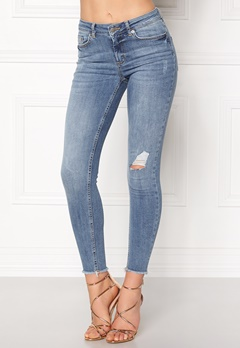 Pieces Five Delly Cropped Jeans Light Blue Denim Bubbleroom.fi