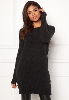 Pieces Fortuna LS Wool Long Knit Black Bubbleroom.fi