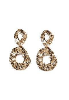 Pieces Frija Earrings Gold Colour Bubbleroom.fi