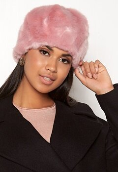 Pieces Fur Hood Peachskin/Solid Bubbleroom.fi