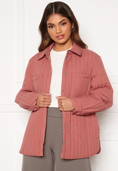 Pieces Gretzel Quilted Overshirt Canyon Rose Bubbleroom.fi