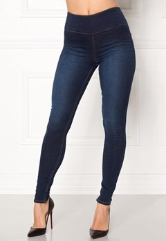 Pieces High Waist Betty Soft Dark Blue Denim Bubbleroom.fi