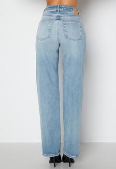 Pieces Holly HW Wide Jeans Medium Blue Denim bubbleroom.fi