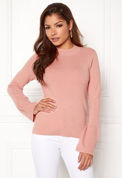 Pieces Illiana LS Turtleneck Knit Evening Sand Bubbleroom.fi