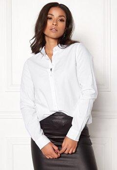 Pieces Irena LS Oxford Shirt Bright White Bubbleroom.fi