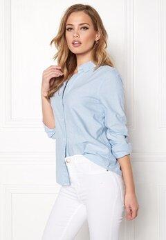 Pieces Irena LS Oxford Shirt Kentucky Blue Bubbleroom.fi
