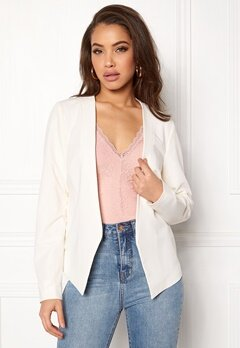 Pieces Ivana LS Blazer Cloud Dancer Bubbleroom.fi