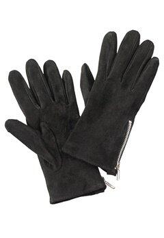 Pieces Jamista Suede Glove Black Bubbleroom.fi