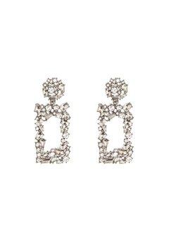 Pieces Janet Earrings Silver Colour Bubbleroom.fi