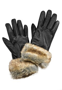 Pieces Janna Leather Glove Ginger Snap Bubbleroom.fi