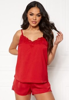 Pieces Jessica Nightwear Set Racing Red Bubbleroom.fi