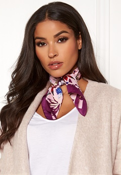 Pieces Jessica Square Scarf Candy Pink Bubbleroom.fi