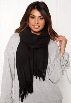 Pieces Jira Wool Scarf Black Bubbleroom.fi