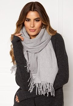Pieces Jira Wool Scarf Light Grey Melange Bubbleroom.fi