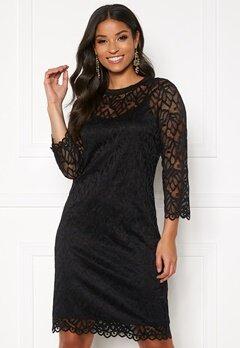 Pieces Jordan 3/4 Lace Dress Black Bubbleroom.fi