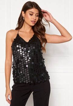Pieces Julia Sequins Strap Top Black/Sequins Bubbleroom.fi