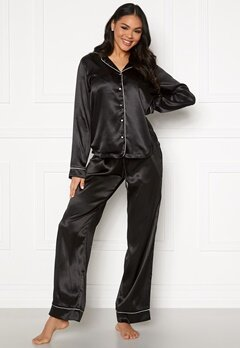 Pieces Juliana PJ Set Black Bubbleroom.fi