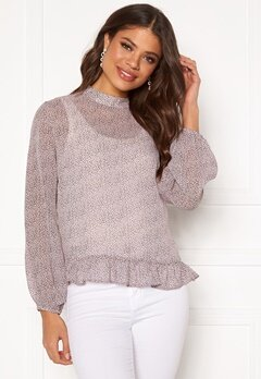 Pieces Julie LS Top Misty Rose Bubbleroom.fi