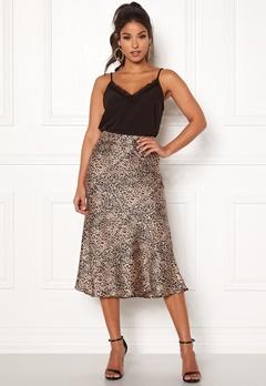 Pieces Kaia Skirt Black/Leopard Bubbleroom.fi