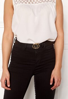 Pieces Karren Jeans Belt Black-Gold Bubbleroom.fi