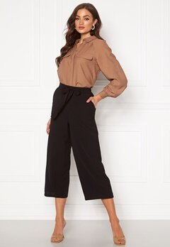 Pieces Kellie HW Culotte Pant Black Bubbleroom.fi
