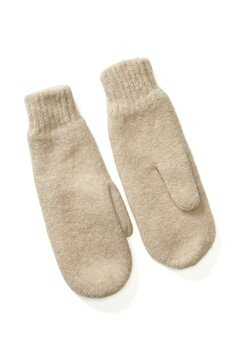 Pieces Kimme Wool Mittens White Pepper Bubbleroom.fi