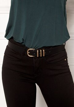 Pieces Lea Jeans Belt Black/Gold Bubbleroom.fi