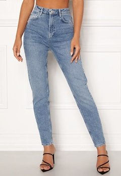 Pieces Leah Mom HW Ankle Jeans Light Blue Denim Bubbleroom.fi