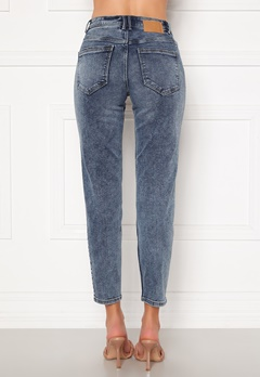 Pieces Lili Slim MW Jeans Light Blue Denim Bubbleroom.fi