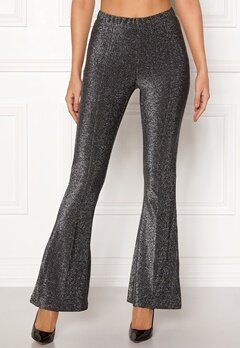 Pieces Liza Lurex Flared Pants Black Bubbleroom.fi