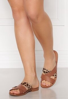 Pieces Naomi Leather Sandal Cognac Bubbleroom.fi