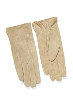 Pieces Nellie Suede Gloves Natural Bubbleroom.fi