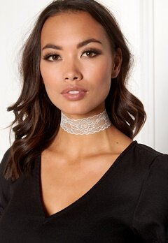 Pieces Nora Choker Bright White Bubbleroom.fi