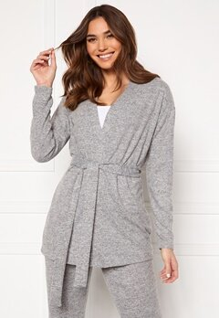 Pieces Pam LS Cardigan Light Grey Melange Bubbleroom.fi