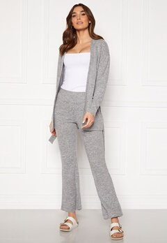 Pieces Pam MW Flared Pant Light Grey Melange Bubbleroom.fi