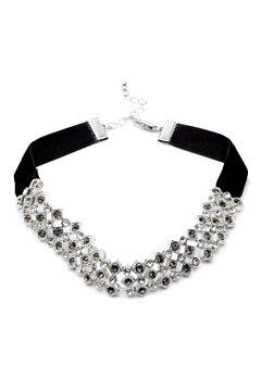 Pieces Racki Choker Necklace Silver Colour Bubbleroom.fi