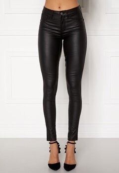 Pieces Shape Up Coated Jeans Black Bubbleroom.fi